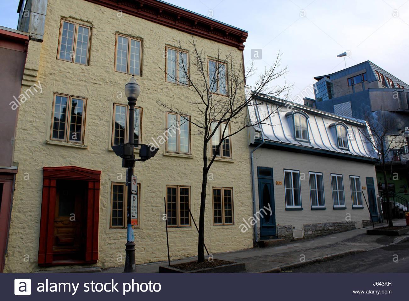 Quebec city quebec canada maison stock photos quebec for Maison ancienne