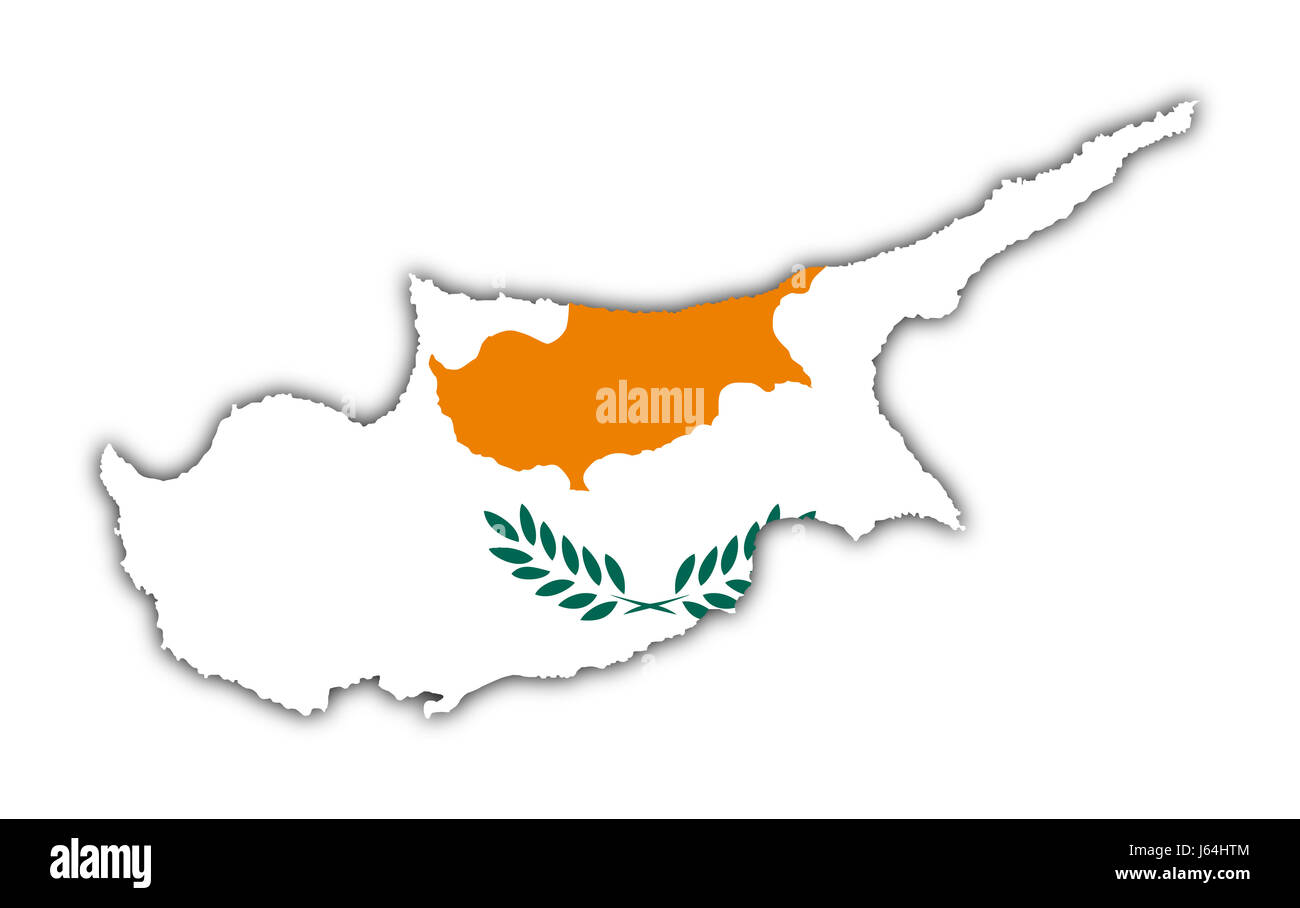 Blank European Caucasian Europe Flag Union Cyprus Geography Map - Cyprus blank map