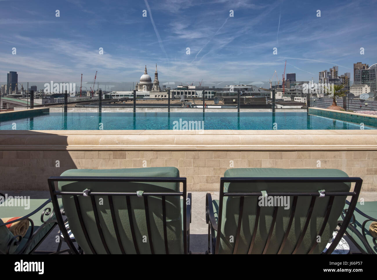 Rooftop Infinity Pool With View Of St Pauls The Ned Hotel
