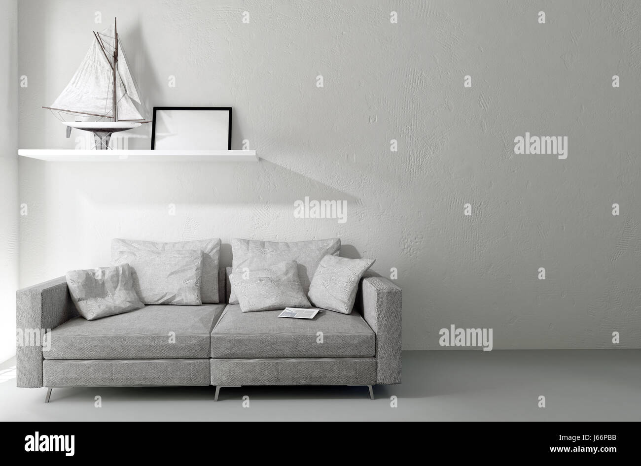 Minimalist living space stock photos minimalist living space stock images alamy - Comfortable beds for small spaces minimalist ...