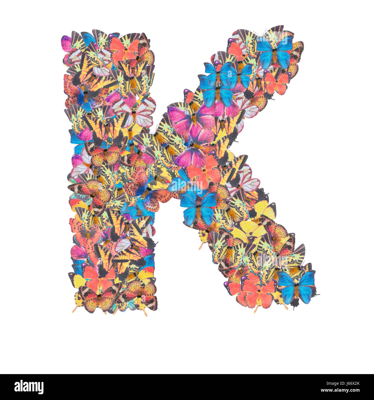 Letter K Alphabet With Butterfly Abc Concept Type As Logo Isolated