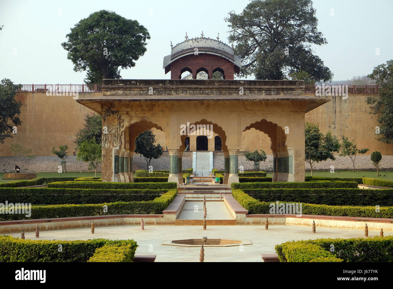 Beautiful gardens in Amber Fort, Jaipur, Rajasthan, India, on Stock ...