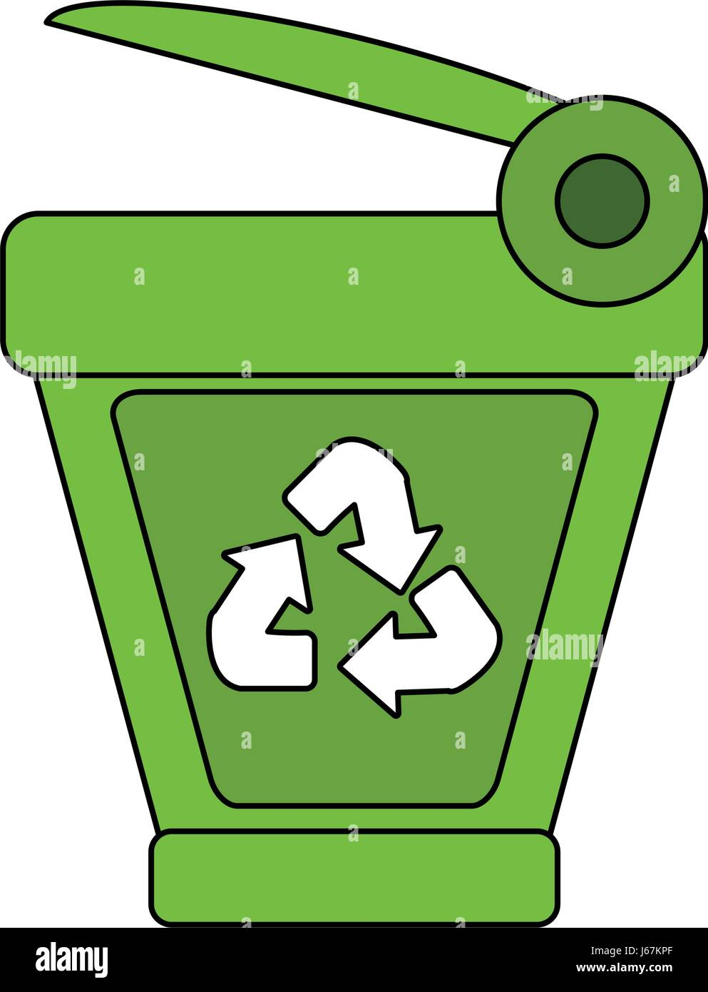 Cartoon recycling symbol stock photos cartoon recycling symbol color image cartoon trash can with recycling symbol stock image biocorpaavc