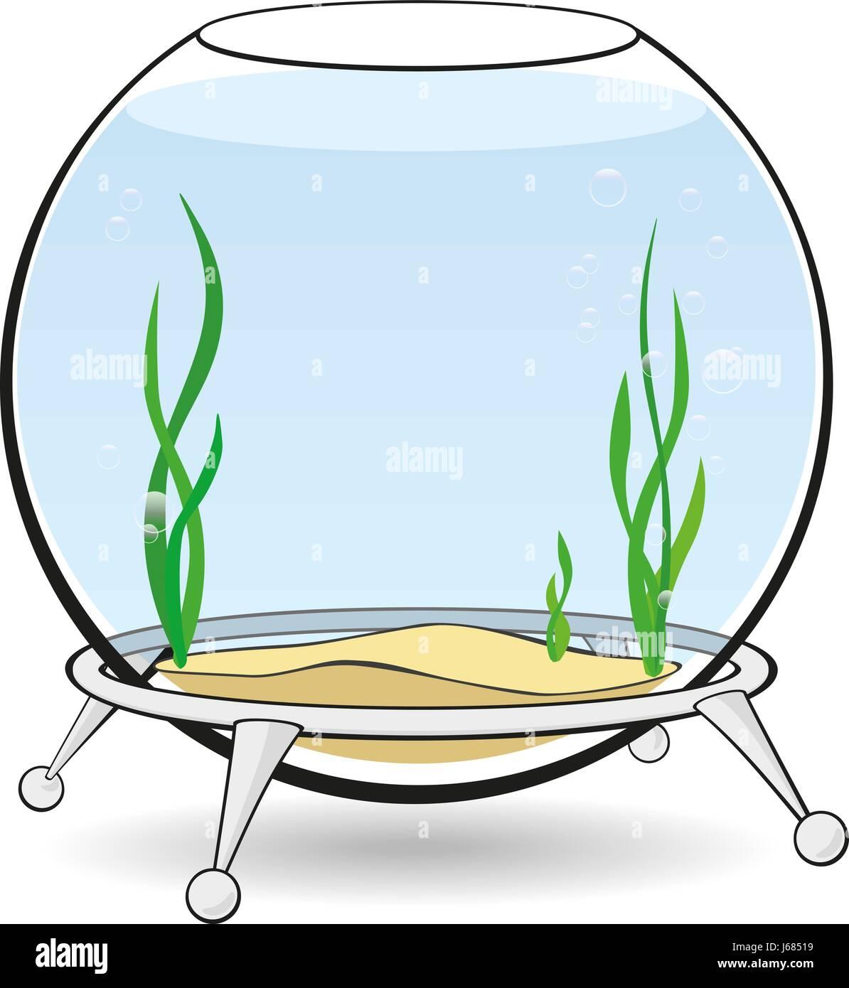 a round aquarium for fish stock vector art u0026 illustration vector