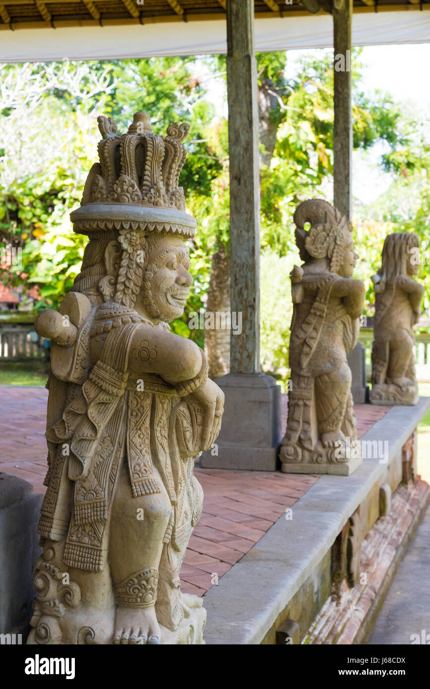 bali, indonesia - april 30, 2017 : traditional statues at pura