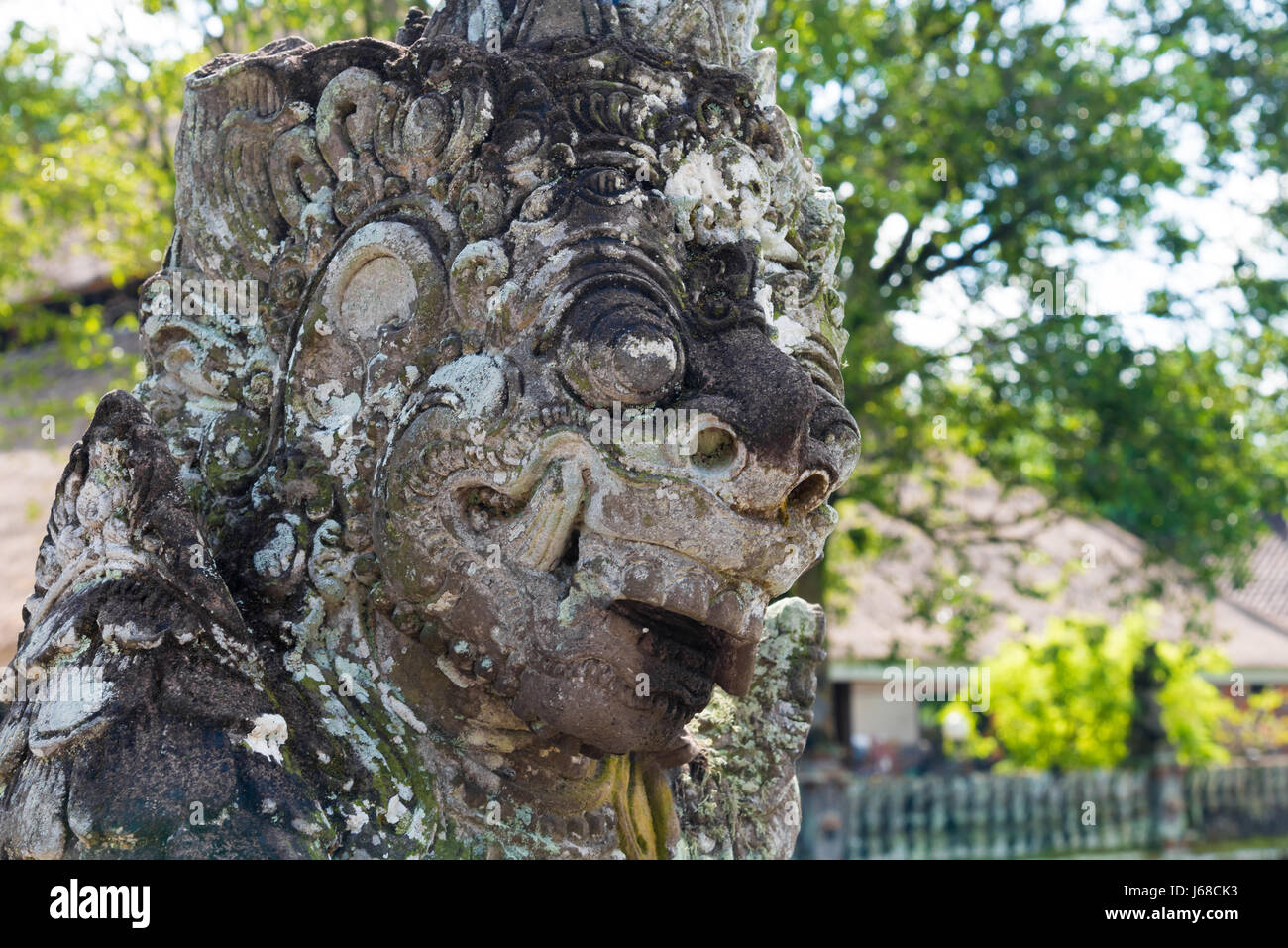 bali, indonesia - april 30, 2017 : traditional statue at pura