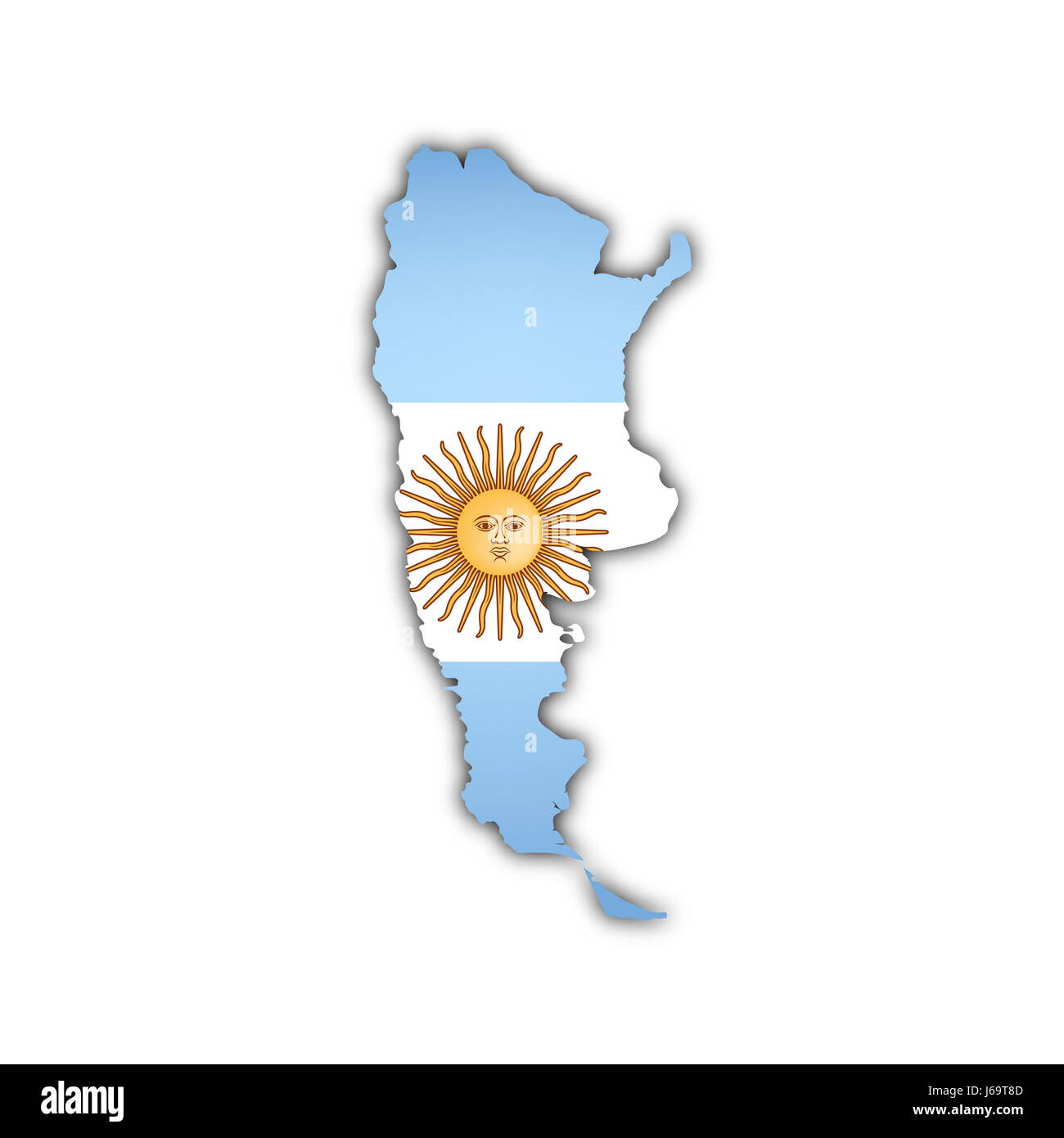South America Flag Map All Countries Stock Vector  Map - South america argentina map