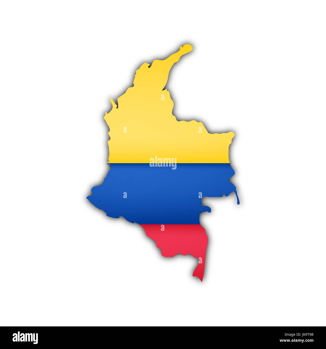 South America Map Columbia Stock Photos  South America Map - South america map and flags