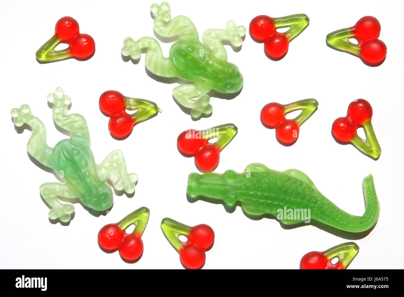food aliment sweets crocodile frog cherry candy colors colours child ...