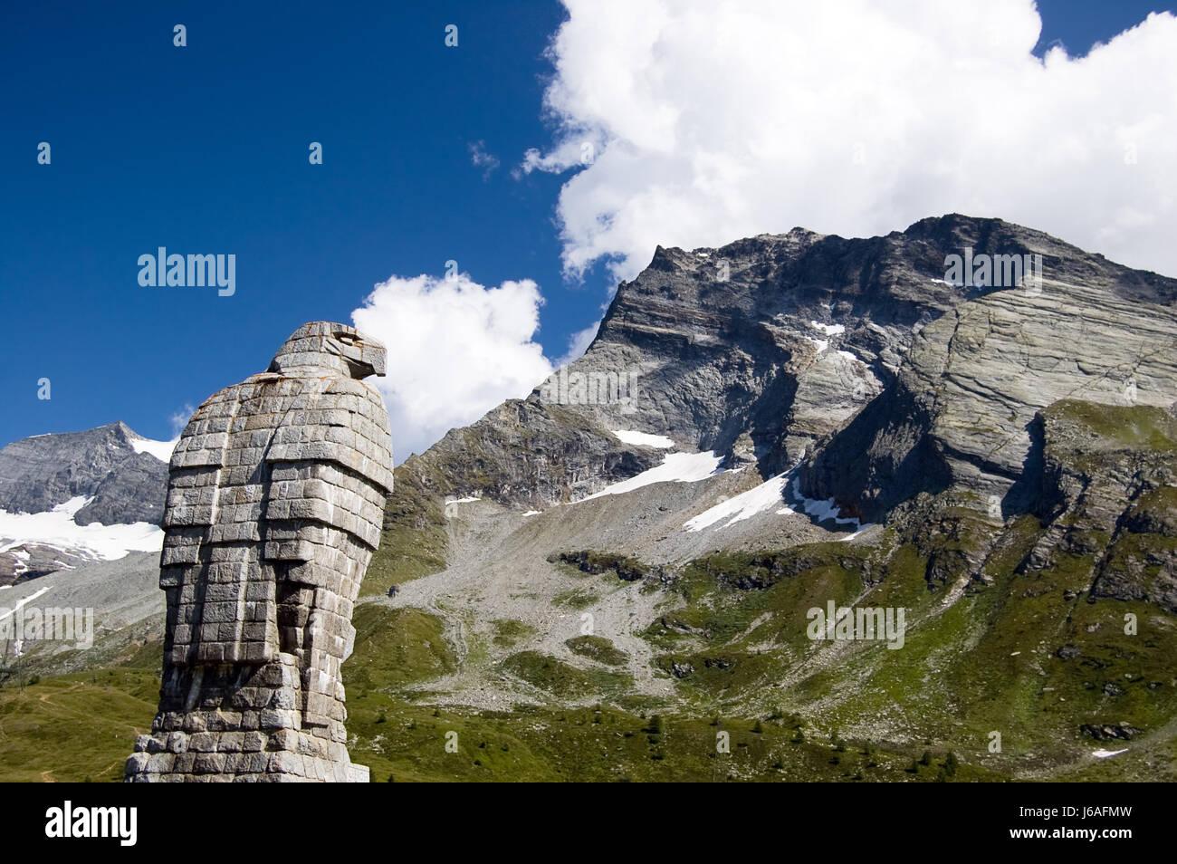 statue switzerland eagle mountain monument art mountains stone
