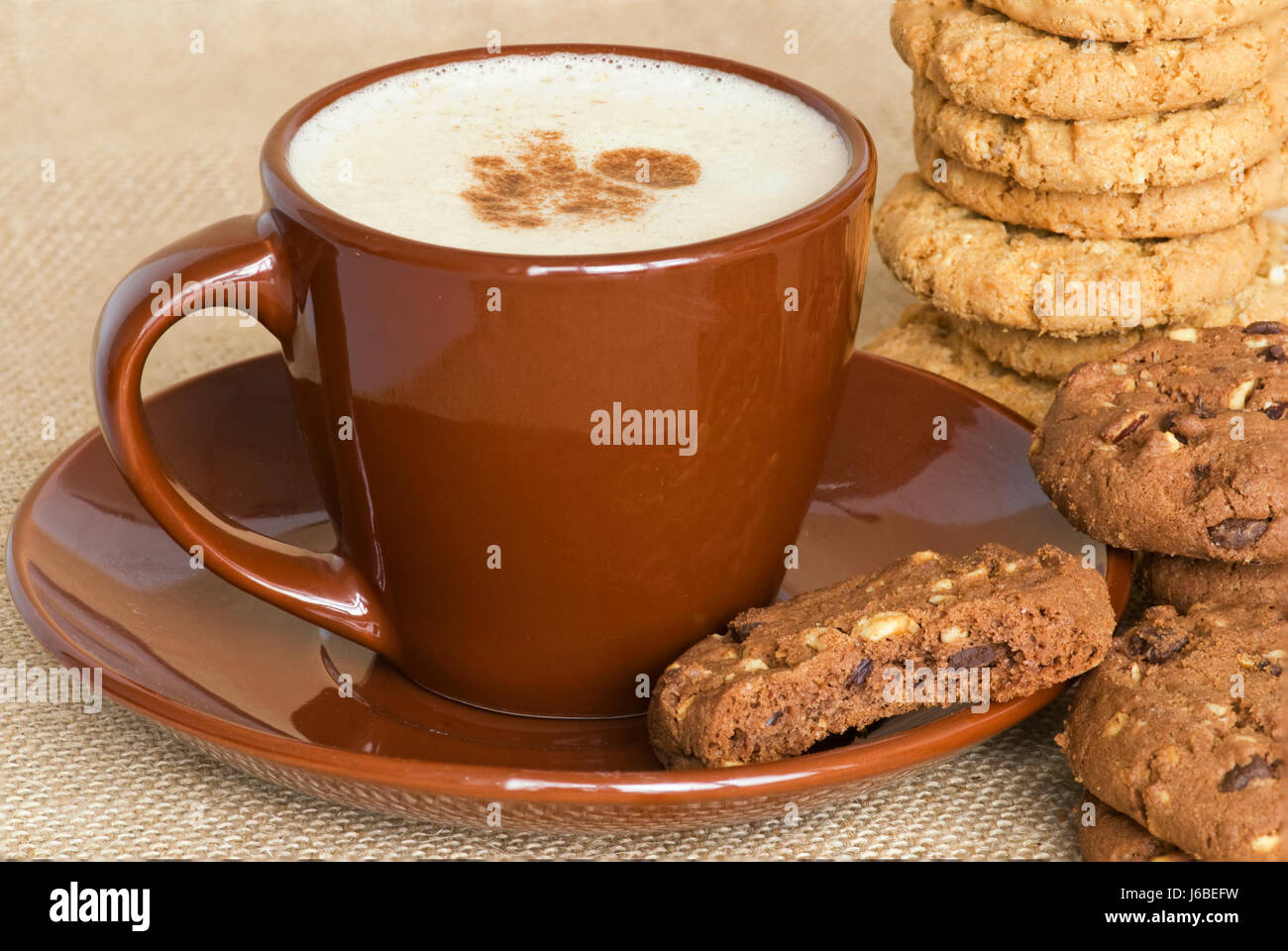 Cookie Coffee Cups Food Aliment Drink Cookie Coffee With Milk Coffee Cup Food Aliment