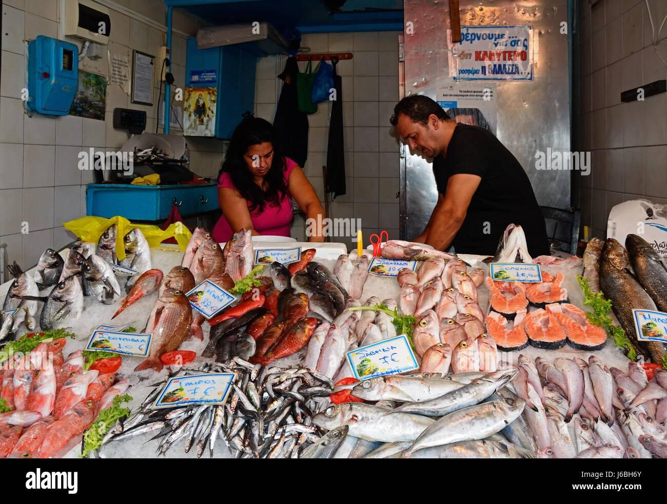 Crete shopping stock photos crete shopping stock images for Nearest fresh fish market