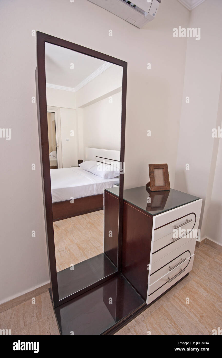 Dressing Table With Mirror Interior Design Decor In Luxury Apartment Bedroom