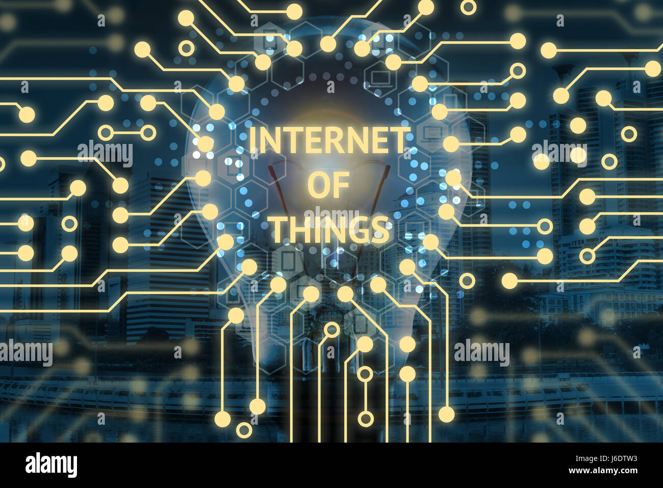 Internet Of Things Iot And Digital Lifestyle Concept Light Bulb Electric Circuit Circuits Graphic Background With Infographic Texts