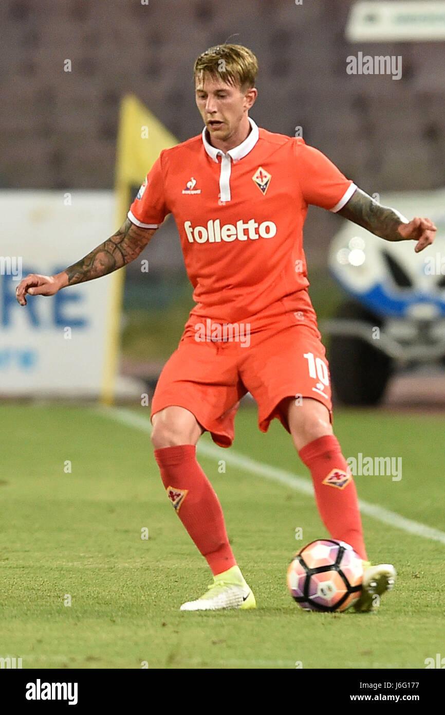 Naples Italy 20th May 2017 Federico Bernardeschi of Fiorentina