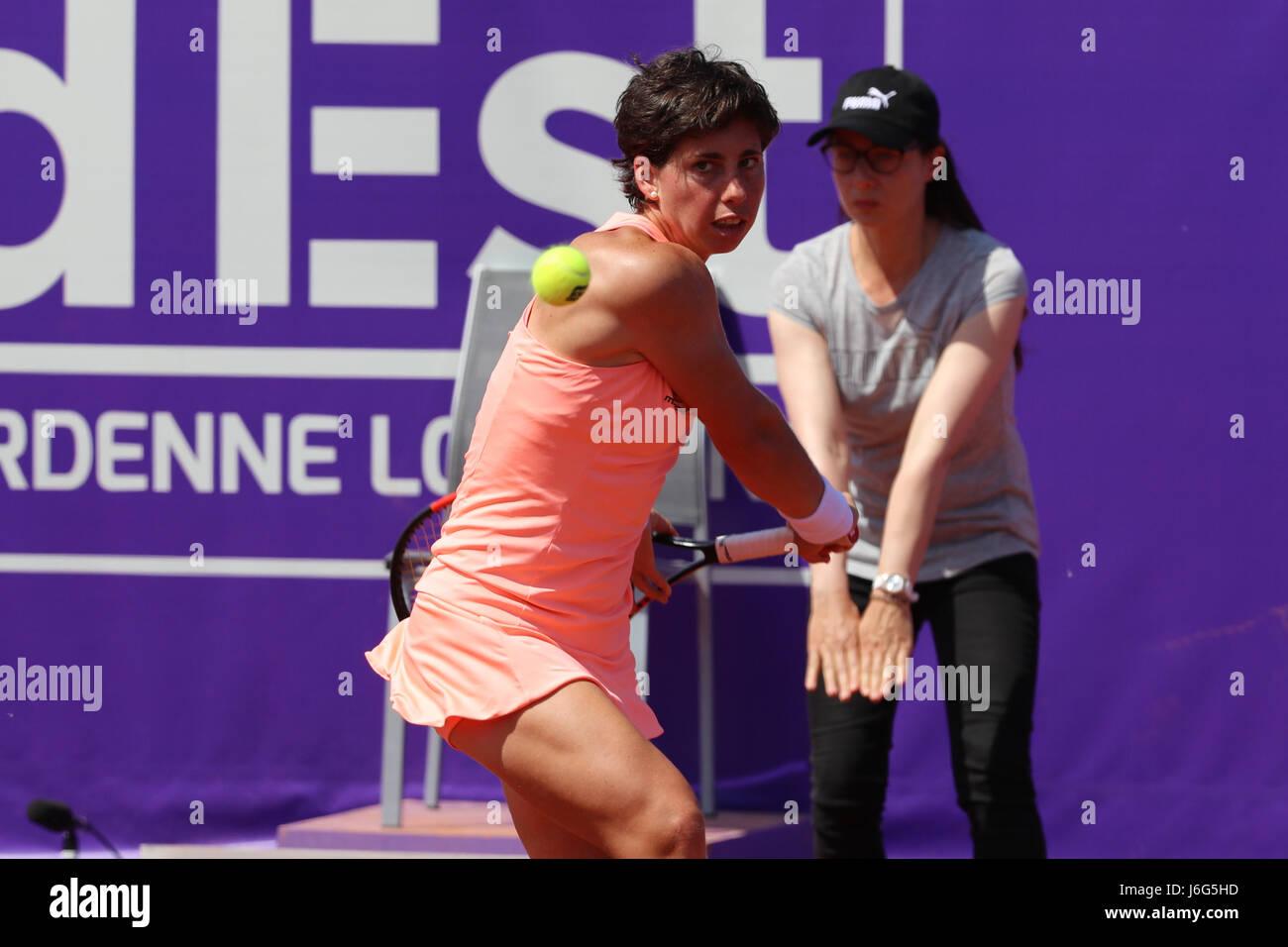 Strasbourg france 21st may 2017 spanish tennis player carla suarez navarro is