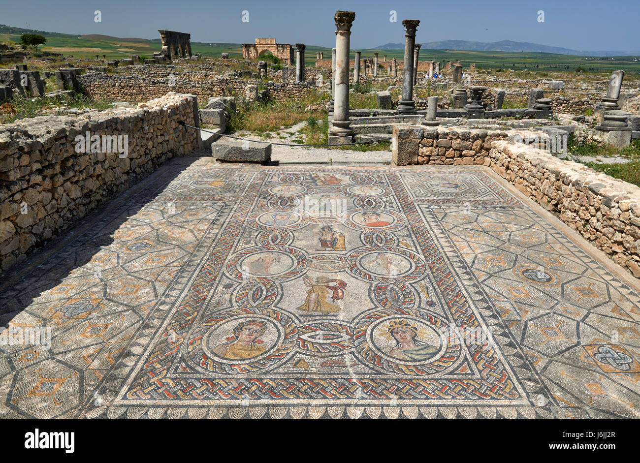 Mosaic inside Gordion palace, House of Dionysus, in the ...