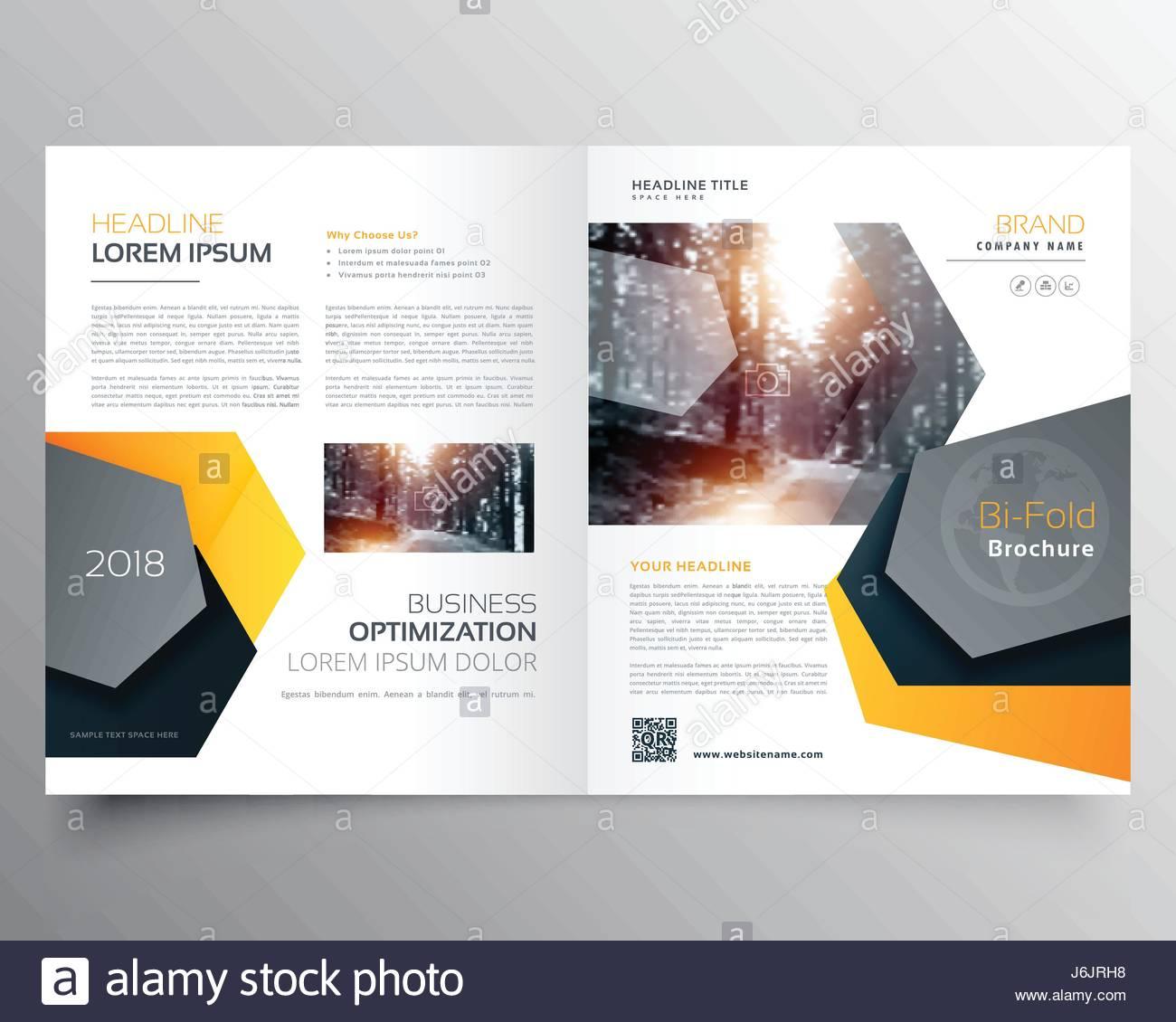 Modern Abstract Bifold Business Brochure Template Or Magazine - Business brochure template