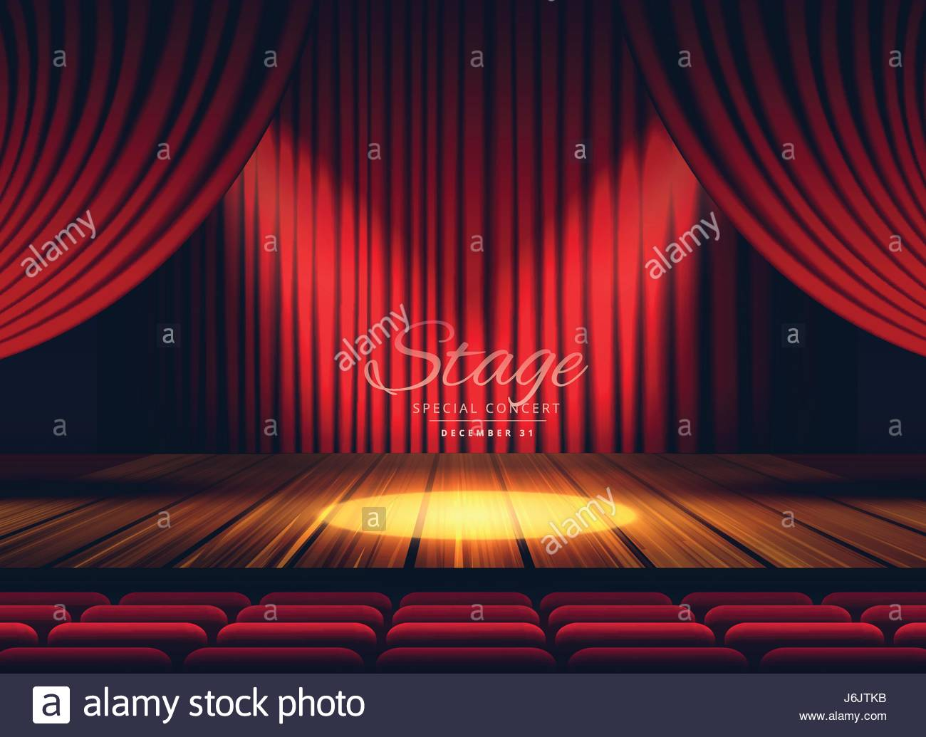 Stage curtains spotlight - Premium Red Curtains Stage Theater Or Opera Background With Spotlight Stock Image