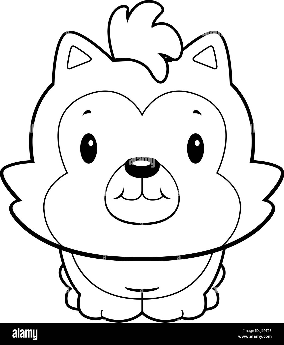 Uncategorized Cartoon Baby Wolf a happy cartoon baby wolf standing and smiling stock vector art smiling