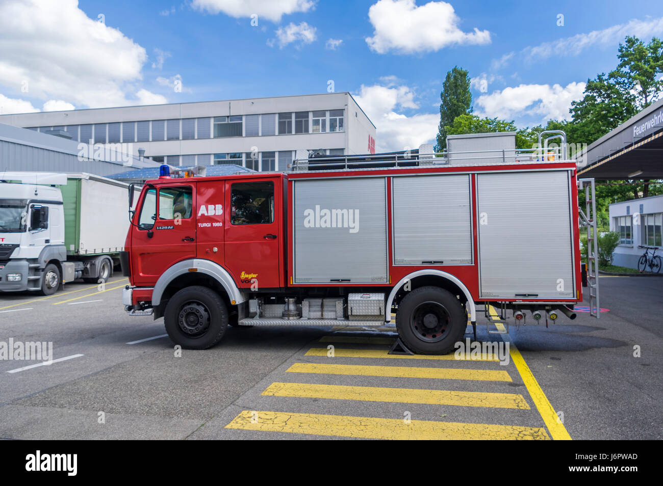 High Quality Attrayant Mercedes Benz 1428AF Water Tender Of A Swiss Fire Brigade. Truck  Built 1988 By