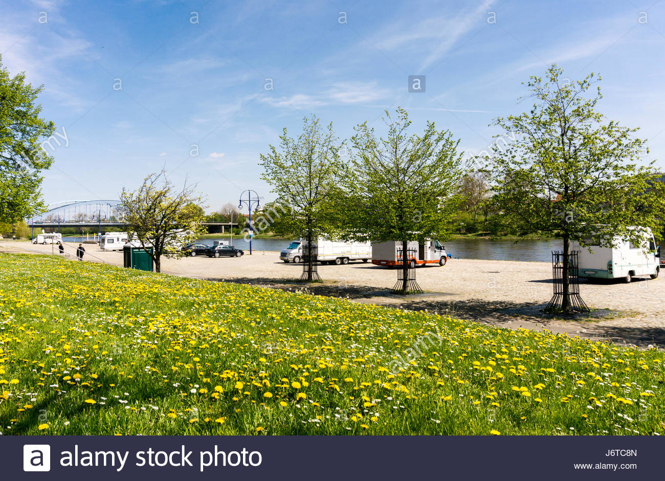 Camping Place In Magdeburg Germany