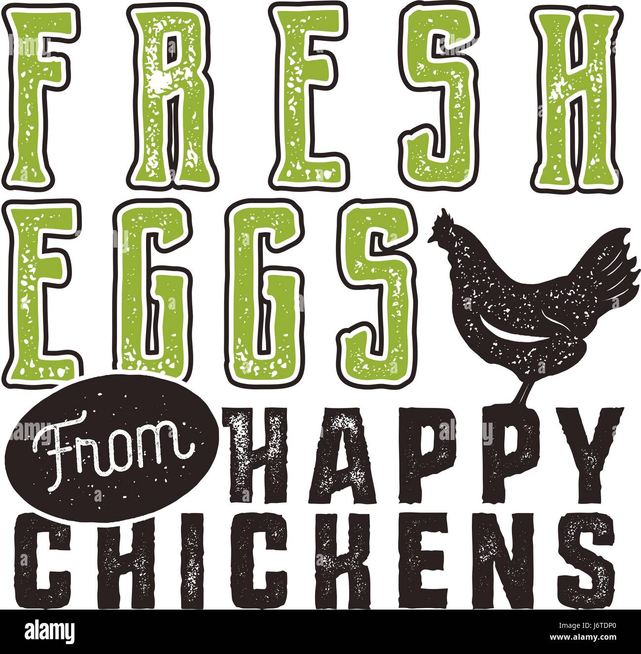 T shirt poster design - Fresh Eggs Poster Design Typography Green And Black Banner Template Good For Prints On T Shirts And Bags Stationery Wood Signs And Other Branding
