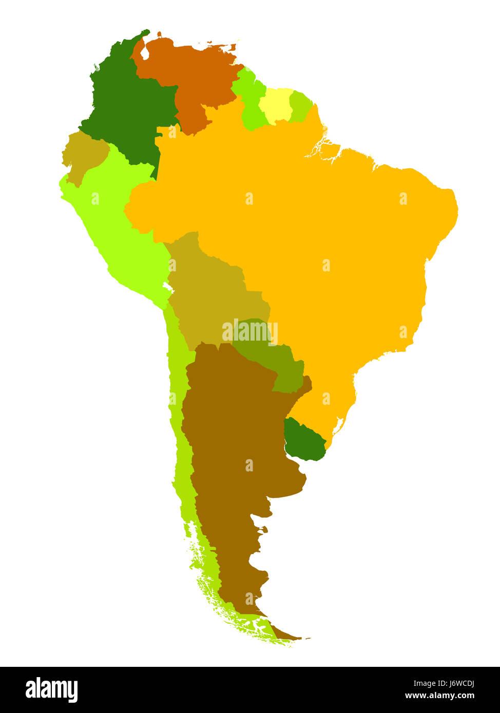 american america argentina brazil bolivia administrative map atlas