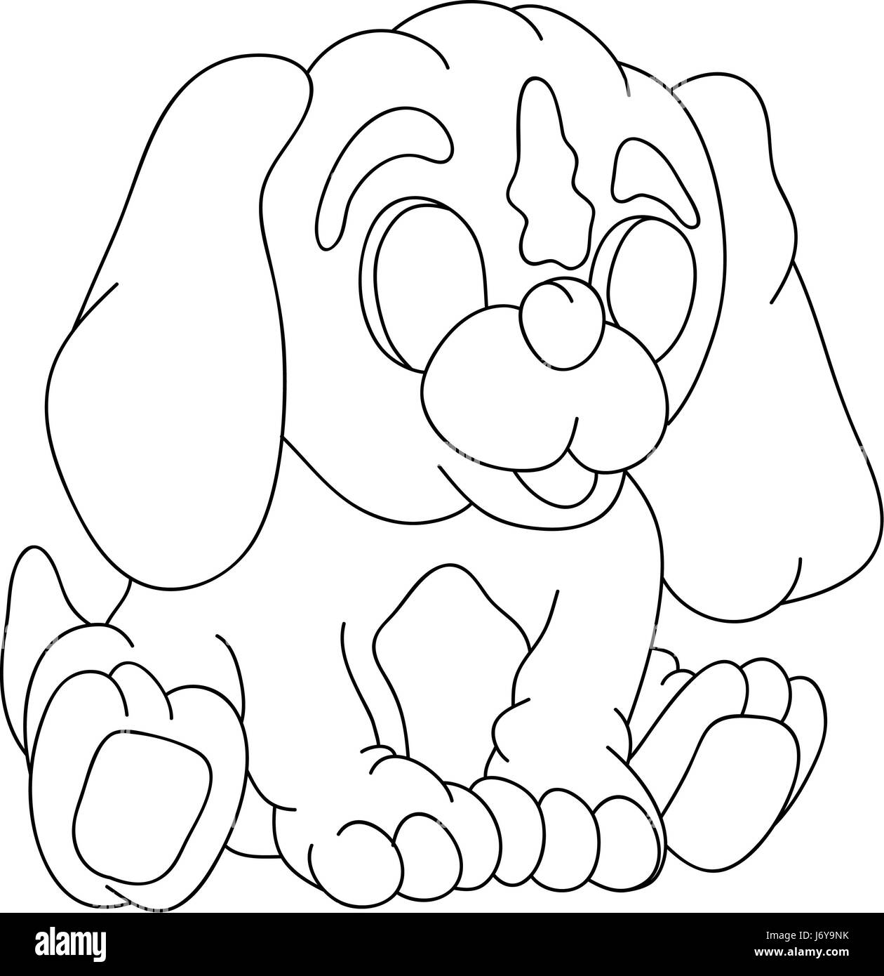 illustration puppy paint draw cartoon color art isolated animal