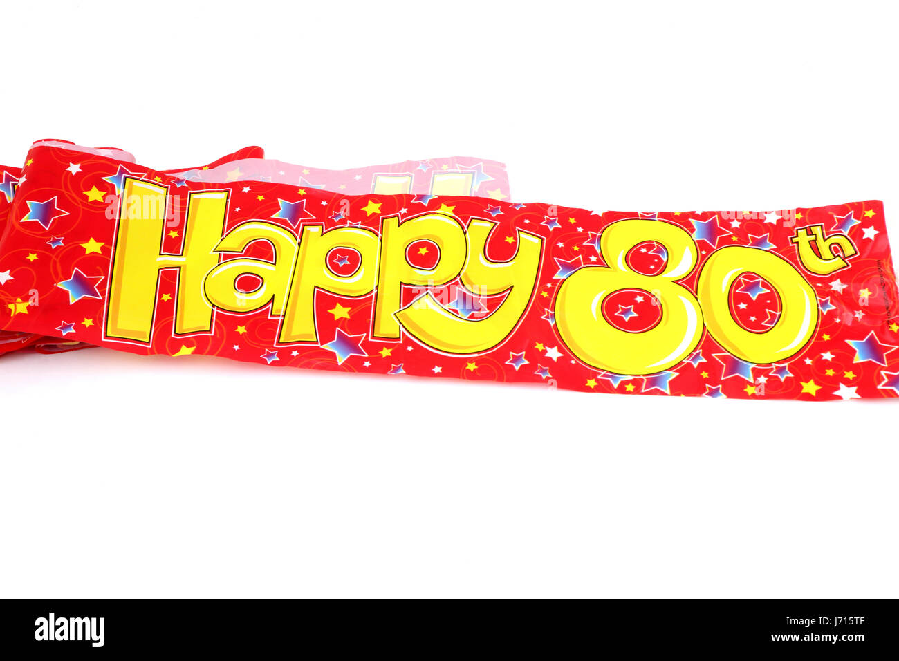 happy 80th birthday banner stock photo royalty free image