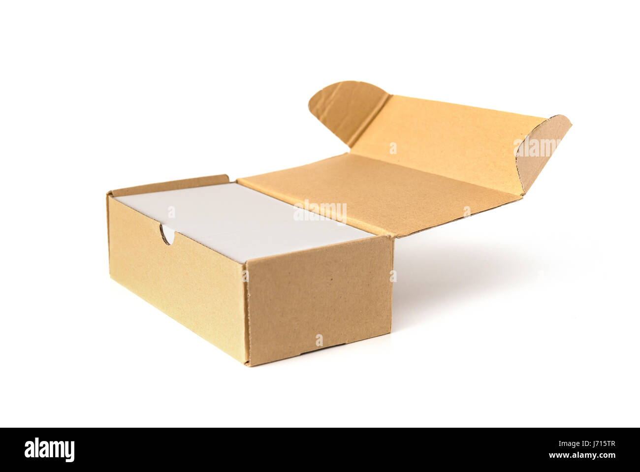 box of business cards on white Stock Photo, Royalty Free Image ...