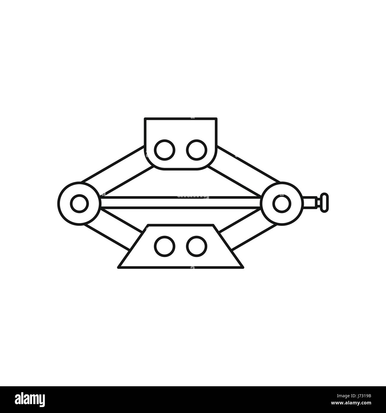 car jack service equipment icon outline style stock vector art