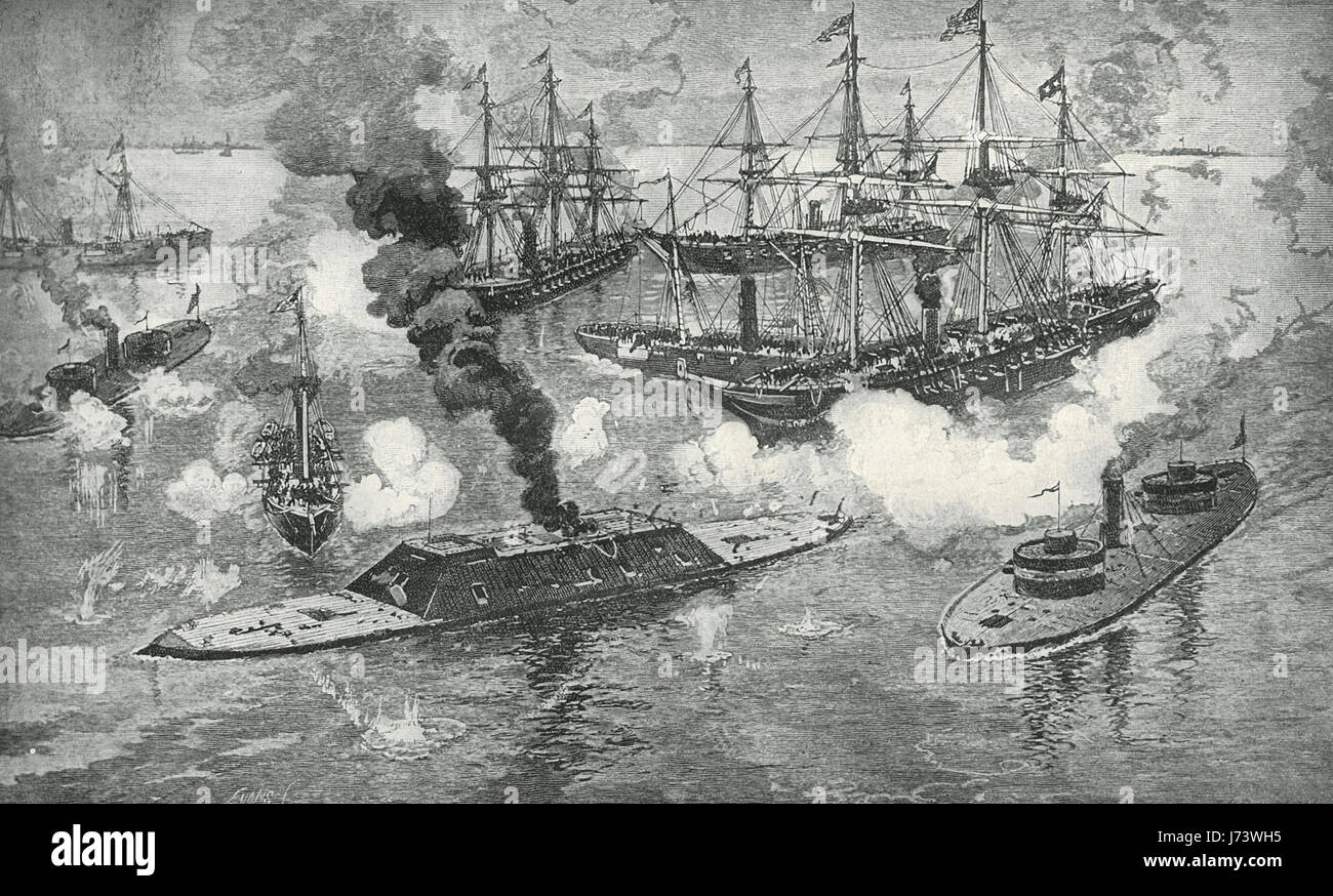 Uss lackawanna vs css tennessee at the battle of mobile bay august 6 - The Surrender Of The Tennessee Battle Of Mobile Bay During The American Civil War