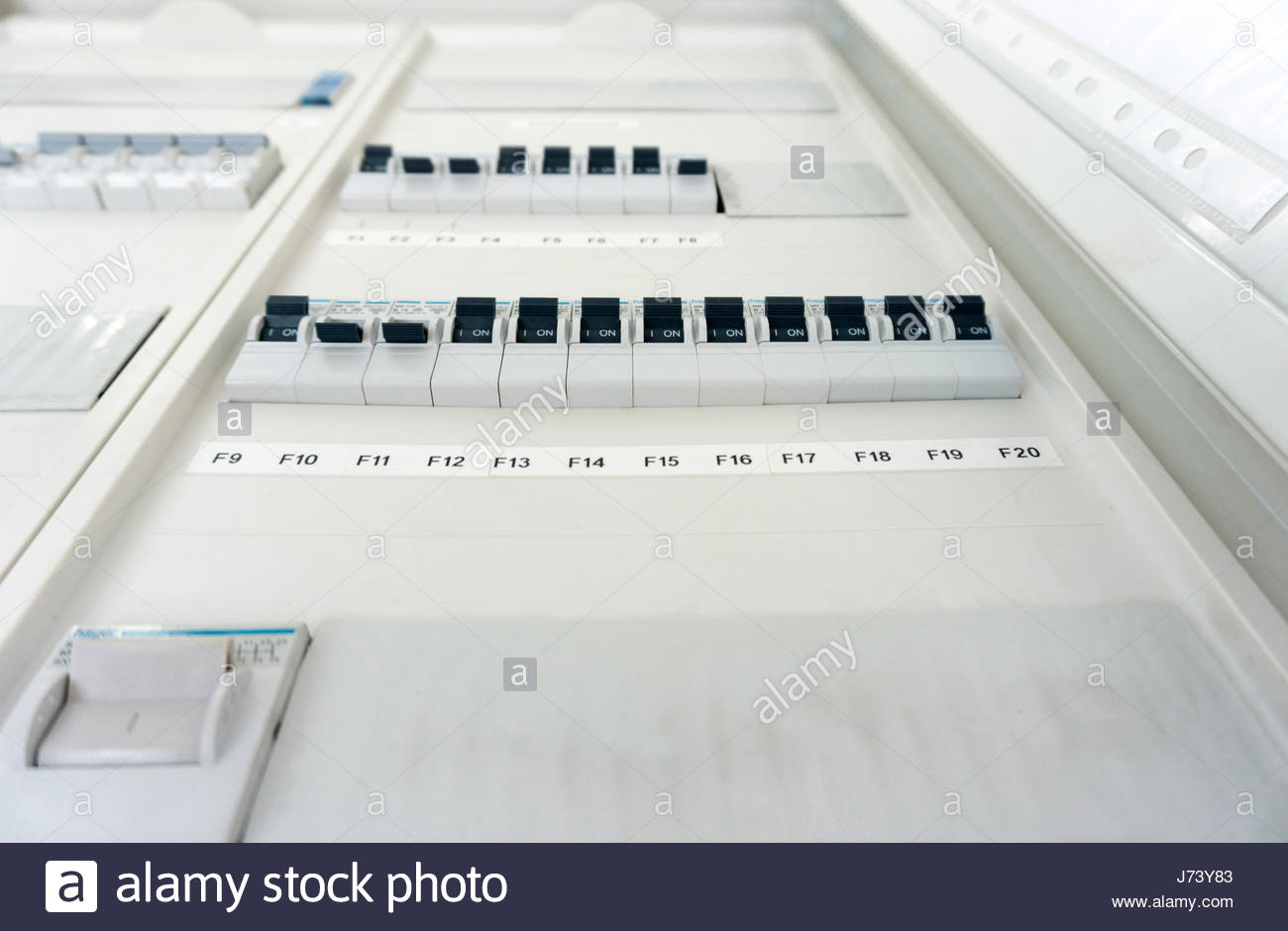 Fuse Box With Automatic Fuses For Installation Stock Photos F20 Fusebox Many Image