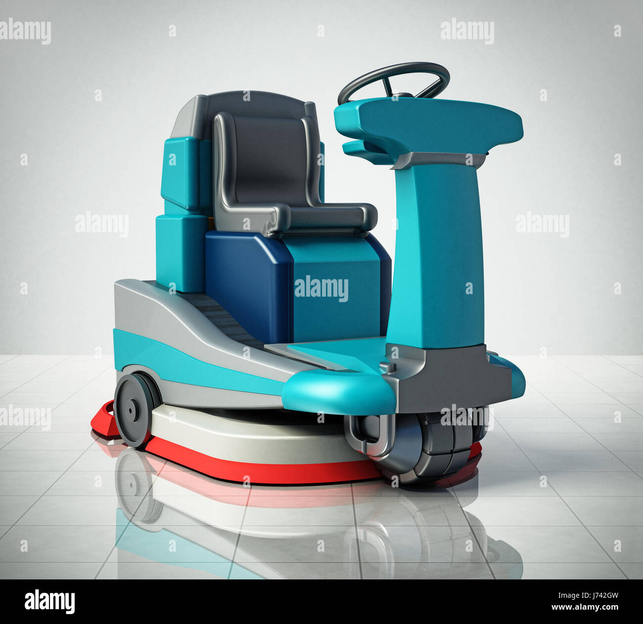 Cleaning machine floor stock photos cleaning machine for Floor cleaning machine