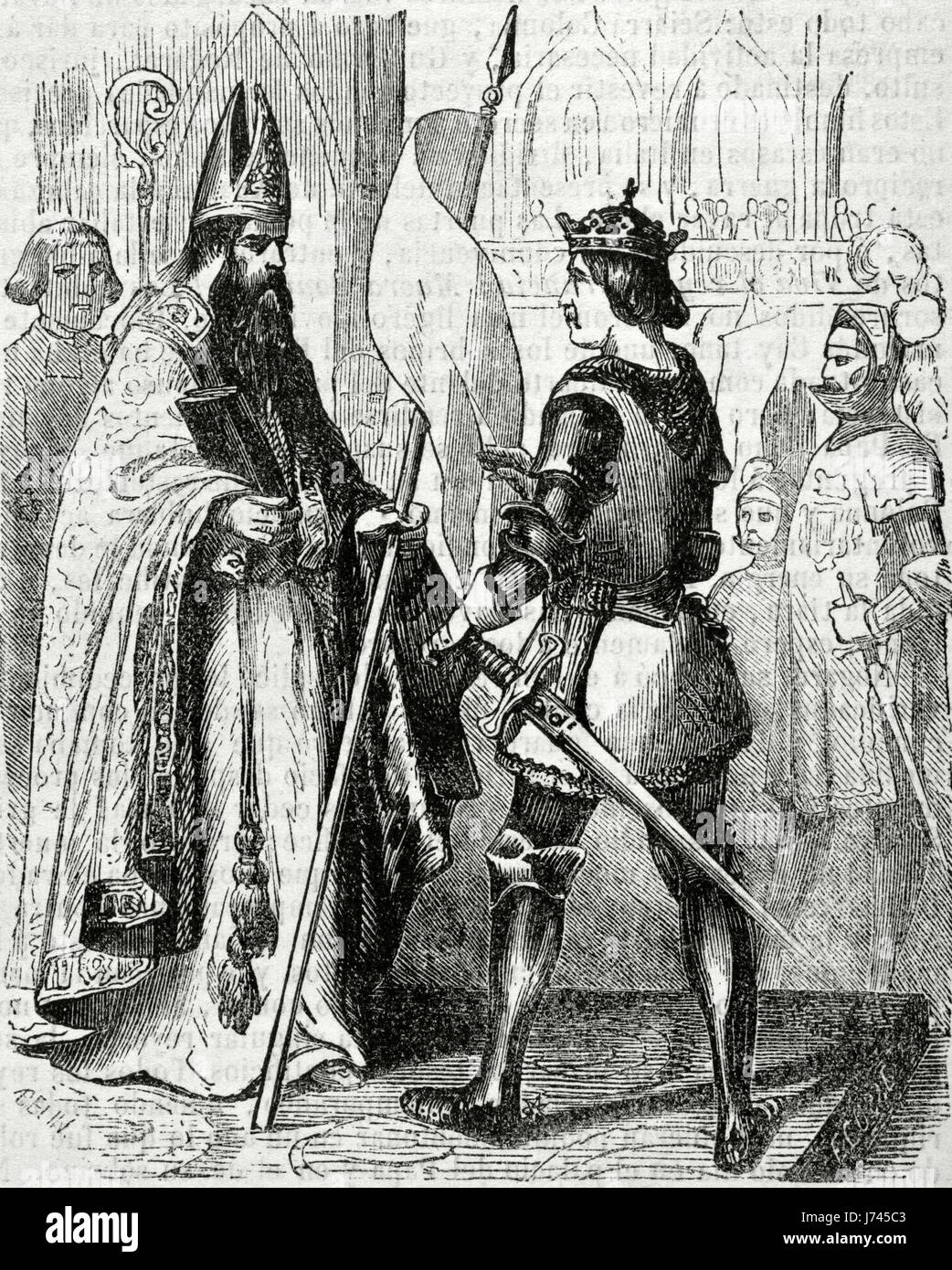 Bien connu King Philip VI of France (1293-1350), the Fortunate, taking the  YF06
