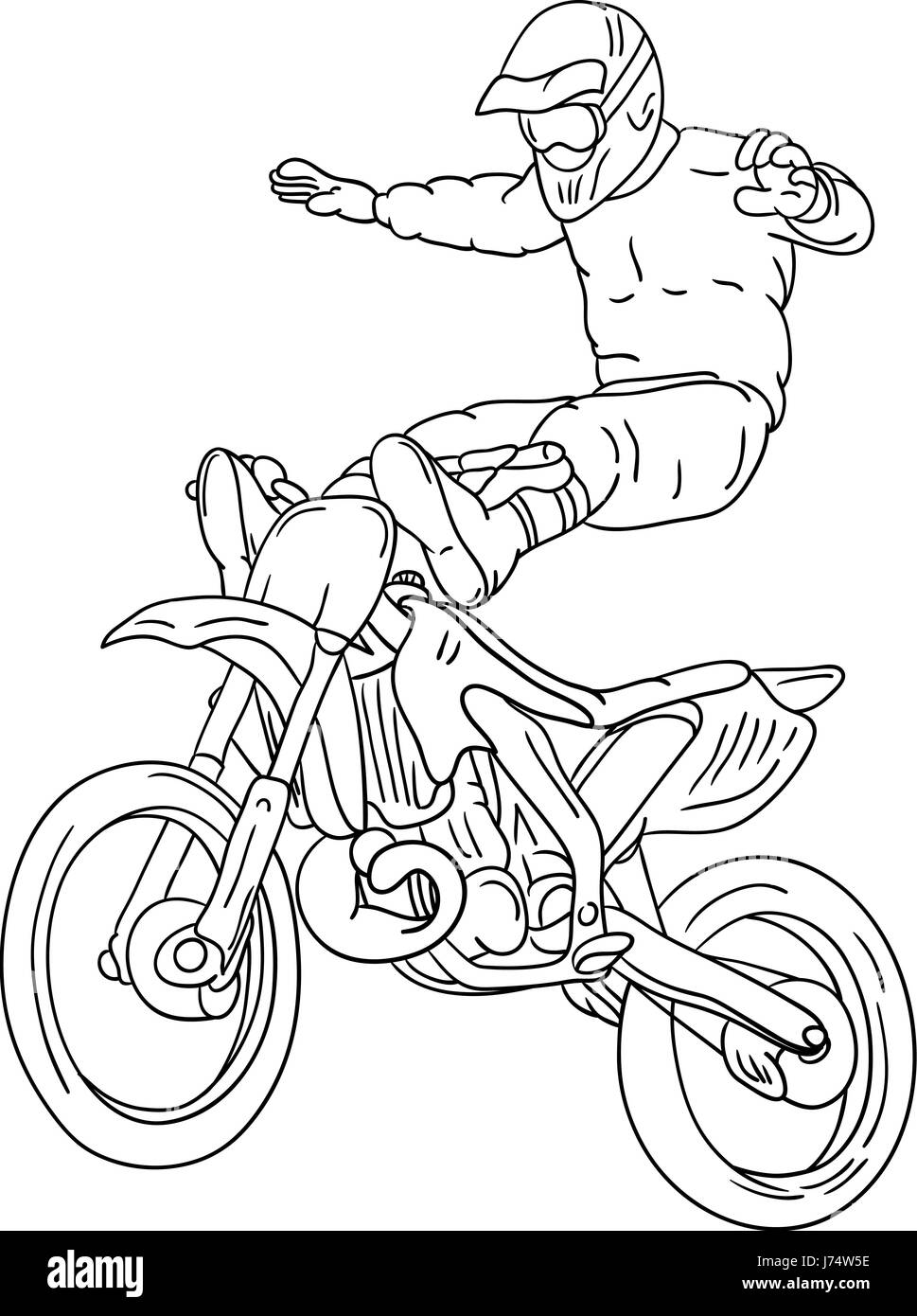 Uncategorized Motocross Pictures To Colour In isolated colour illustration paint freestyle draw cartoon stock photo motorcycle motorbike