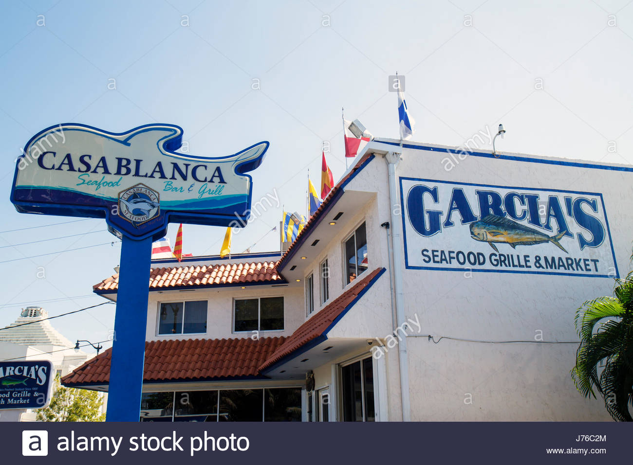 Miami florida casablanca seafood bar and grill garcia 39 s for Garcia s seafood grille fish market miami fl