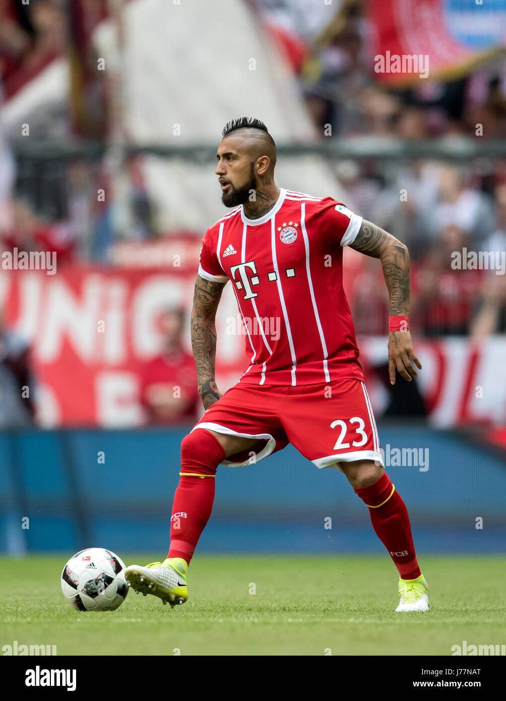 Munich s Arturo Vidal in action during the German Bundesliga