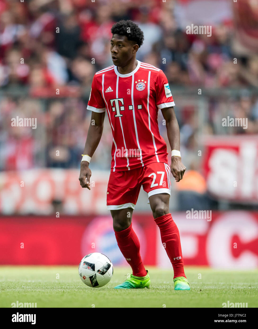 Munich s David Alaba on the ball during the German Bundesliga