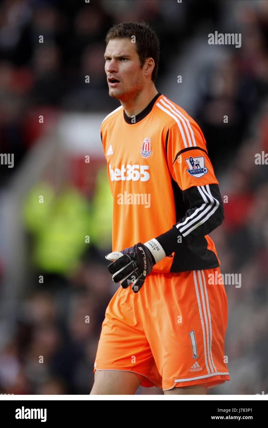 ASMIR BEGOVIC STOKE CITY FC OLD TRAFFORD MANCHESTER ENGLAND 20