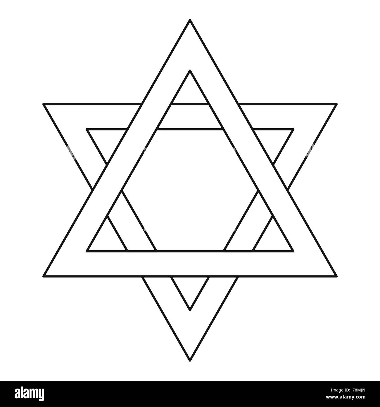 Star of david icon in outline style on a white background vector star of david icon in outline style on a white background vector illustration sciox Images