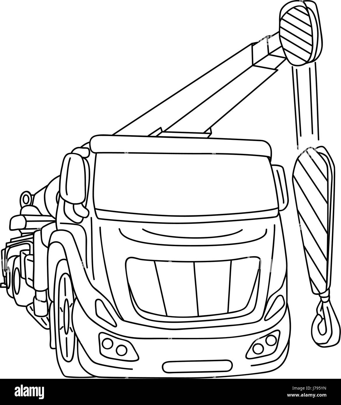 Colour a car - Stock Photo Isolated Colour Illustration Paint Draw Cartoon Crane Motion Postponement