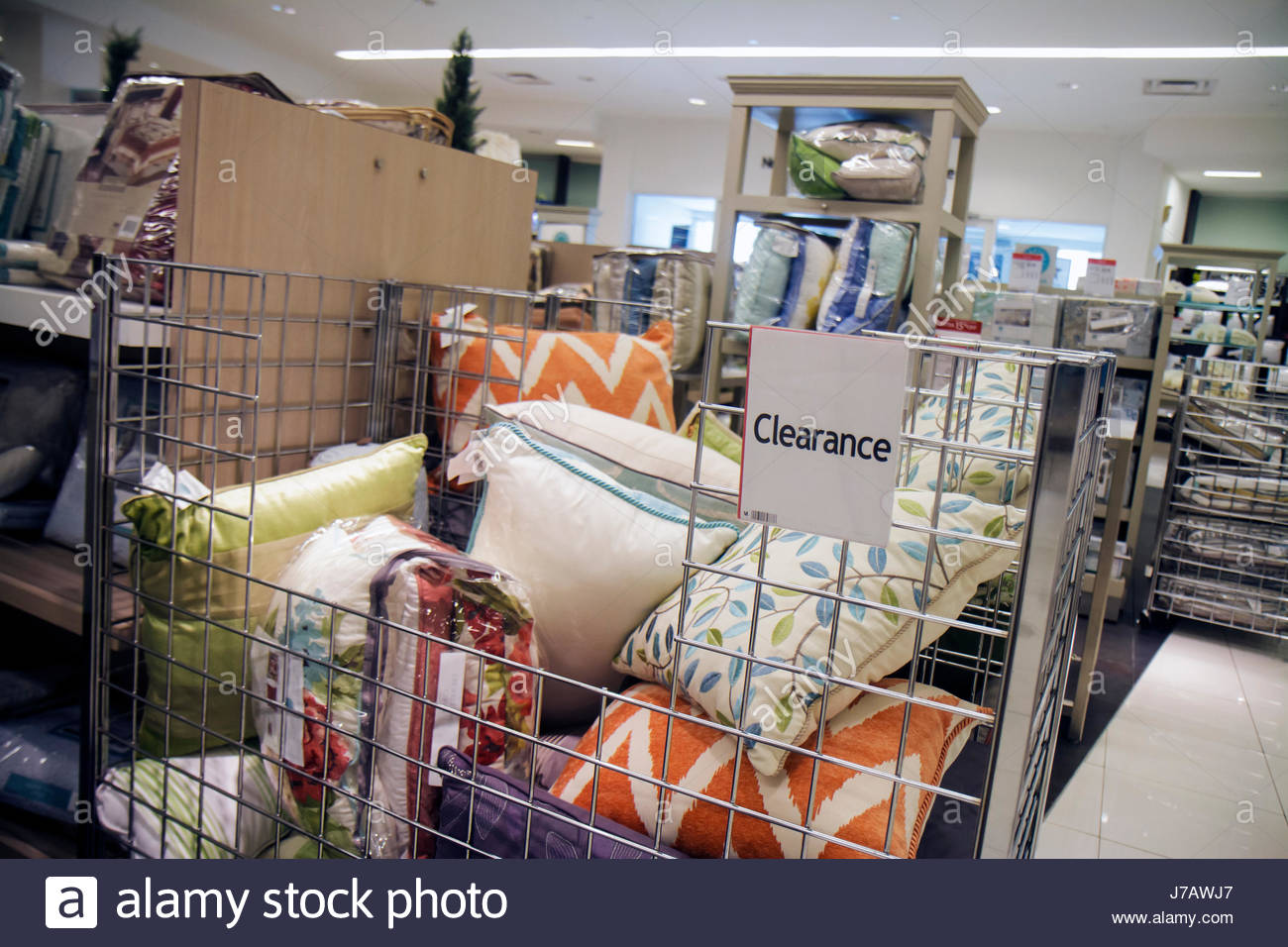 Miami Florida Aventura Macyu0027s Department Store Retail Display For Sale Home  Furnishings Shopping Clearance Throw Pillows Decor