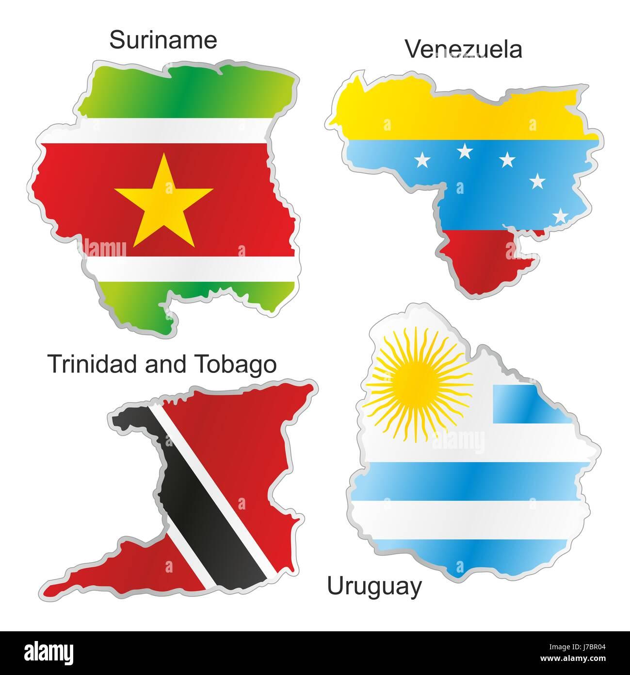 Flag Venezuela Suriname Uruguay Map Atlas Map Of The World - Uruguay map atlas
