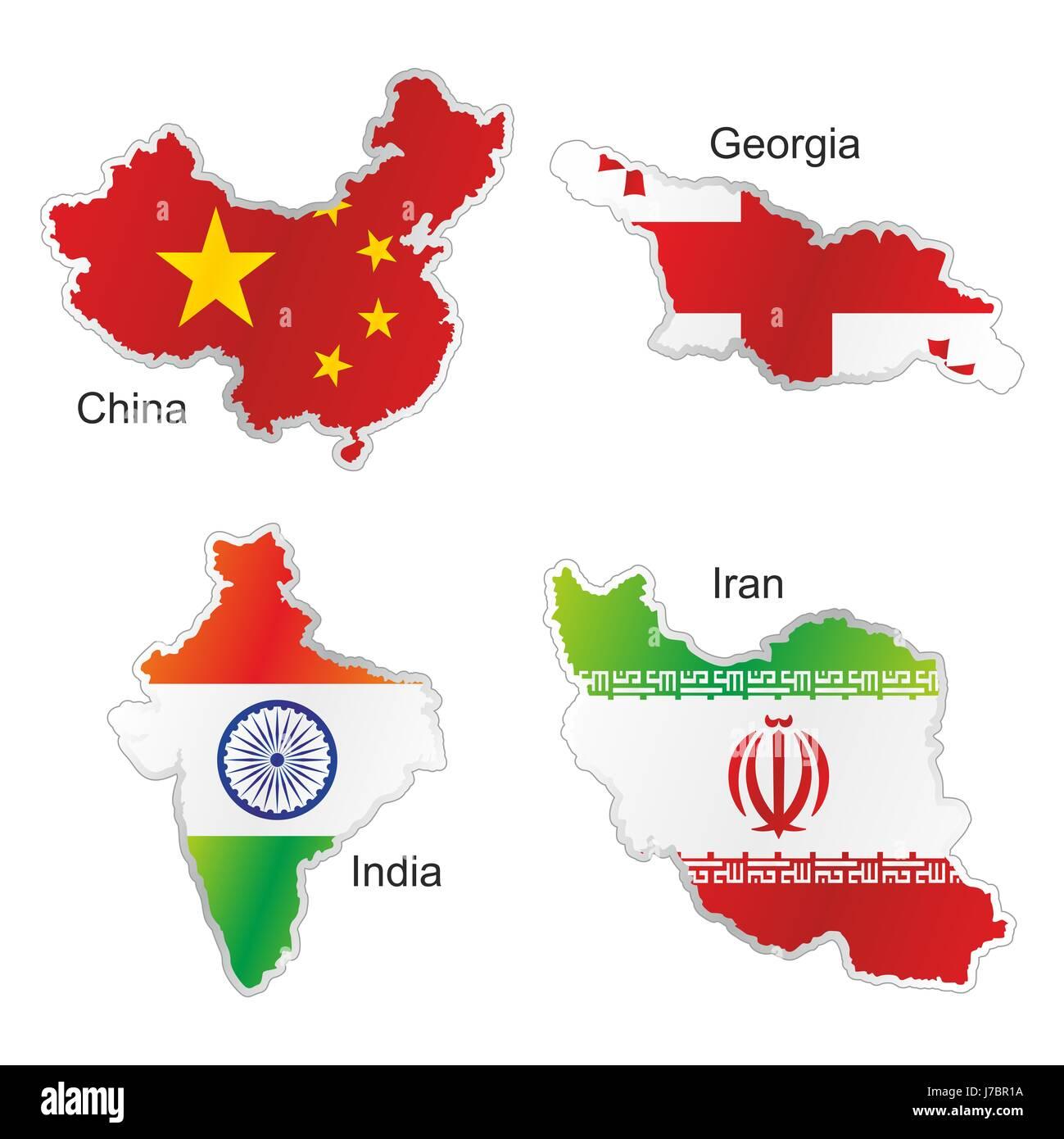Asia india flag china georgia iran map atlas map of the world asia india flag china georgia iran map atlas map of the world isolated currency gumiabroncs Image collections