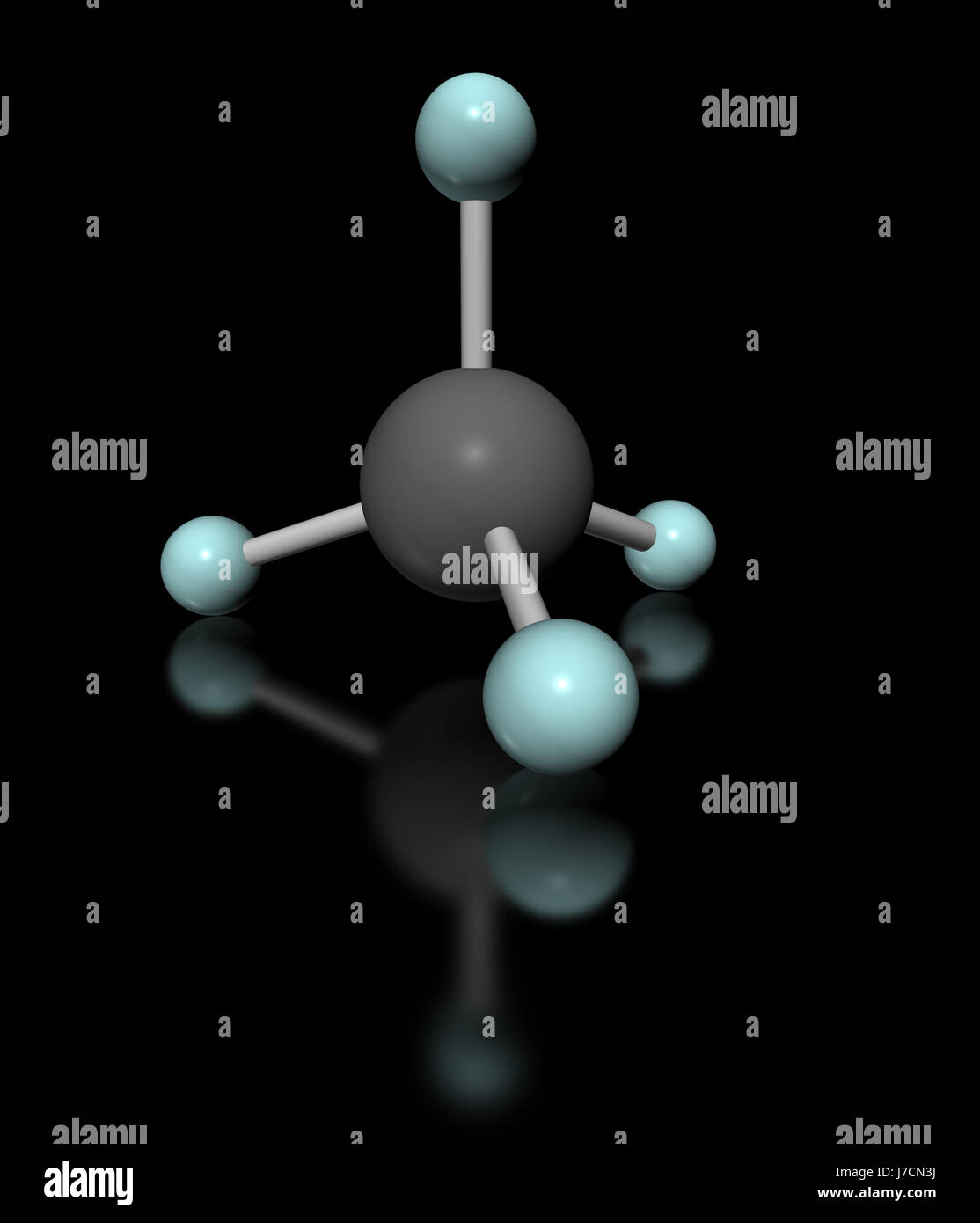illustration fuel gas chemistry methane model isolated industrial ...