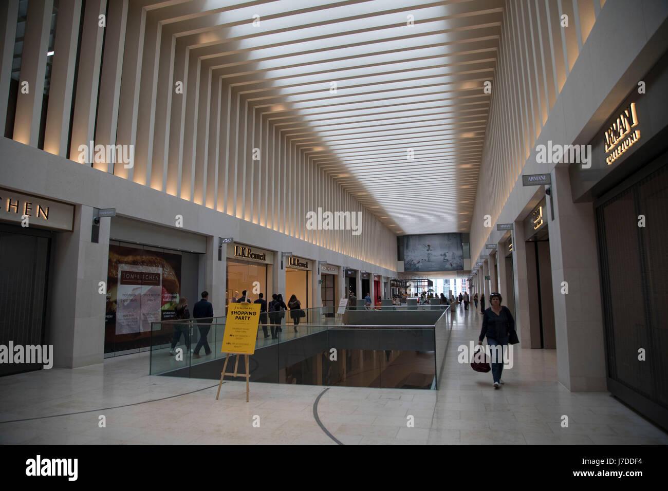 Interior of The Mailbox exclusive department store in Birmingham