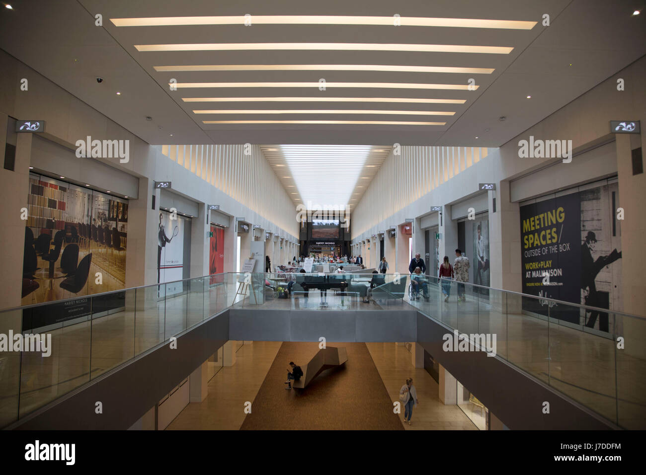 Interior Of The Mailbox Exclusive Department Store In Birmingham, United  Kingdom. The Mailbox Is