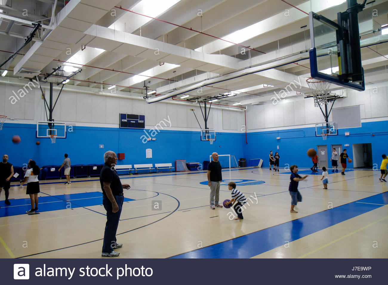Miami Beach Florida Scott Rakow Community Center gymnasium indoor ...